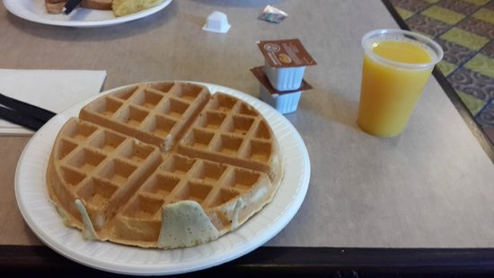 Express Inn & Suites: waffle!