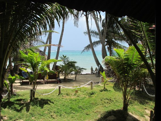 Little Corn Beach and Bungalow : View from the cabin