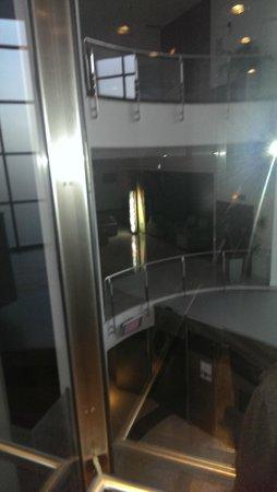NH Gran Hotel Casino Extremadura: vista desde ascensor