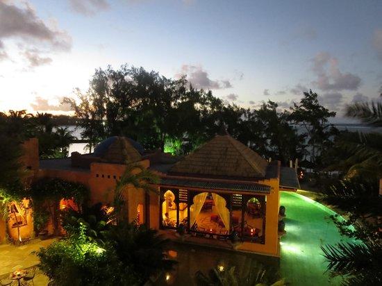 La Palmeraie Hotel : Sunset view of La Palmeraie from room 312