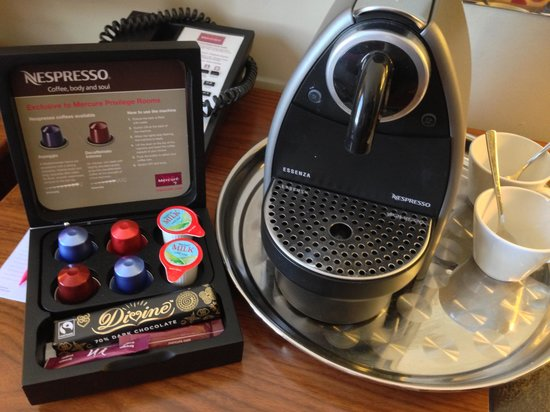 Mercure Stratford-Upon-Avon Shakespeare Hotel: Espresso coffee machine