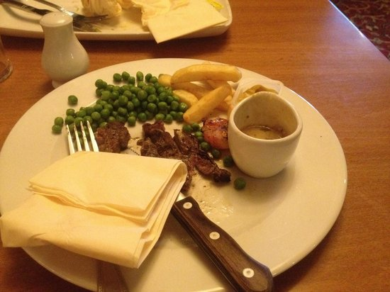 Margam Deer Port Talbot: Very dry steak. I love food but I left this
