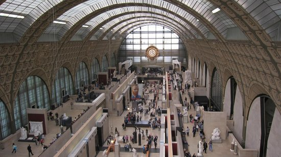 Musée d'Orsay : The main hall of Musee d'Orsay