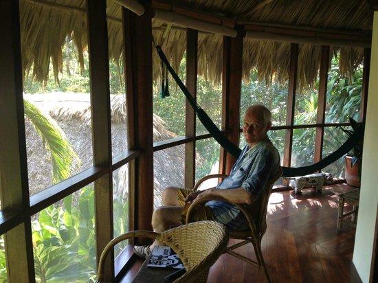 Blancaneaux Lodge : Garden cabana verandah