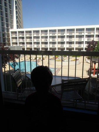 Atlanta Airport Marriott: our balcony