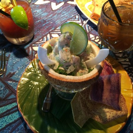 Mama's Fish House : Tahitian version of ceviche