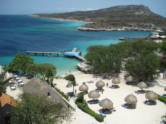 Hilton Curacao: The Beach from the Executive Lounge