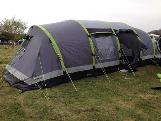 Whitecliff Bay Holiday Park C&ing tent set up & Camping tent set up - Picture of Whitecliff Bay Holiday Park ...