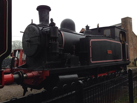 Isle of Wight Steam Railway: One of the Steam engines