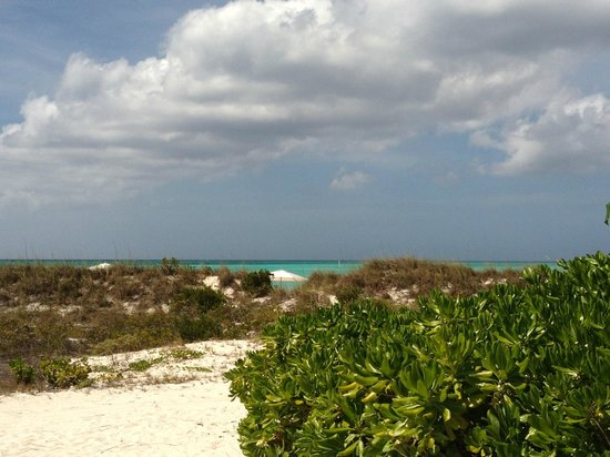 Parrot Cay by COMO: beach view from our beach house