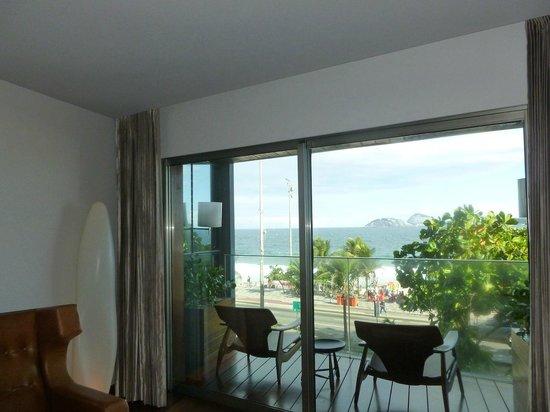 Hotel Fasano Rio de Janeiro: Balcony overlooking the beach