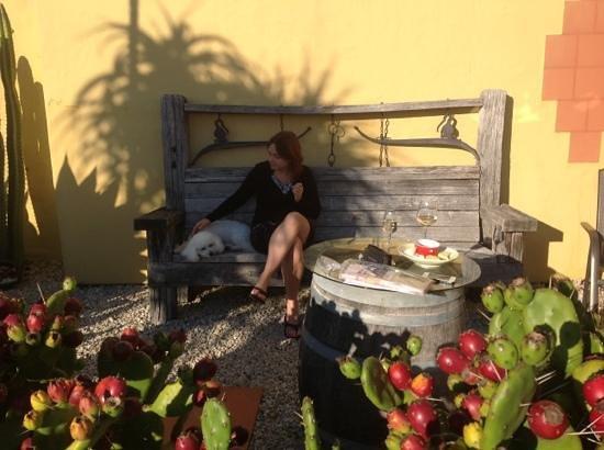 Mapua Hills Bed & Breakfast: Anna enjoying the sunshine .