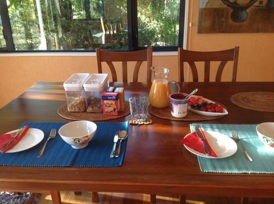 Mapua Hills Bed & Breakfast: delicious breakfasts!