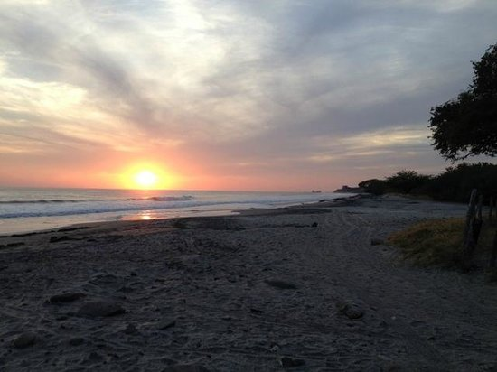 The Surf Sanctuary: Sunset at Playa Santana (3 min walk to beach)