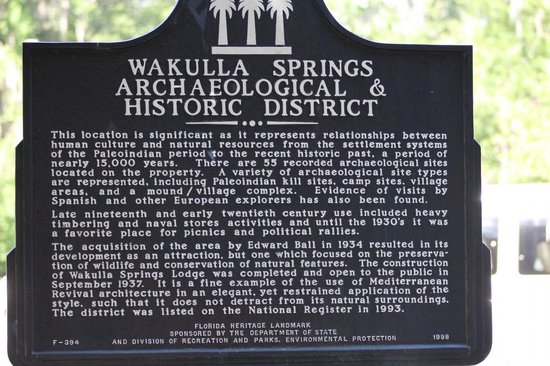 Edward Ball Wakulla Springs State Park: Historic Site