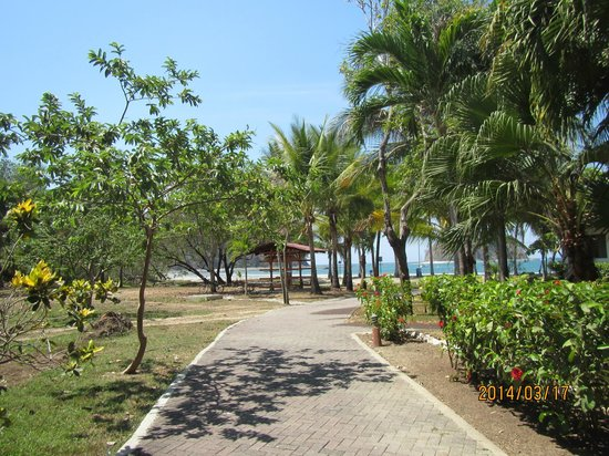 Hotel Villas Playa Samara: Walk to the beach from the Main Area