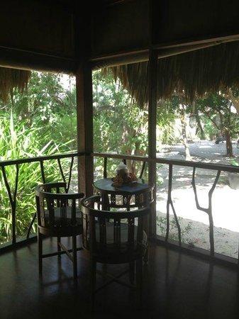 Turtle Inn: Room terrace (screened)