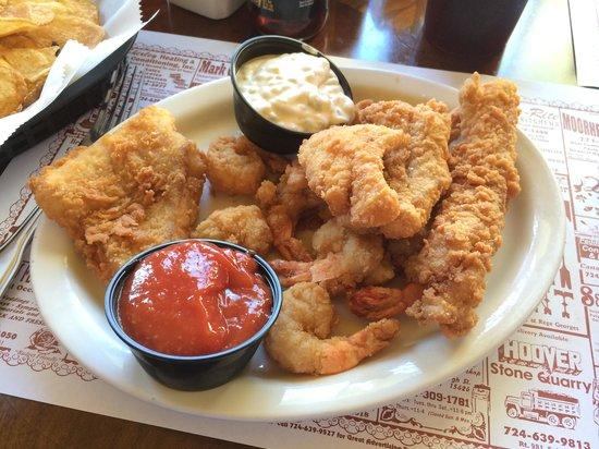 Saltsburg, PA: My cod & Amazing Shrimp