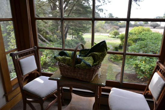 Glendeven Inn Mendocino : wonderful breakfast with a view