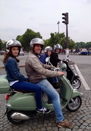 Paris by Scooter : Xavier with my 19y/o