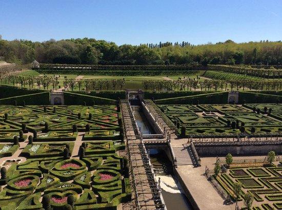 Chateau de Villandry : View of the garden