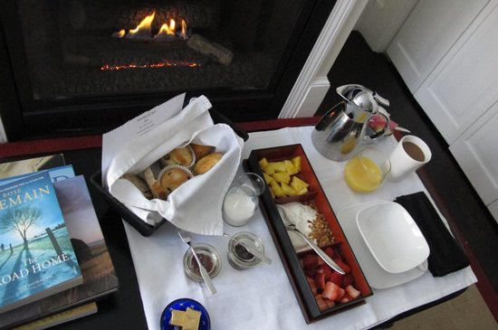 The Platinum Pebble Boutique Inn: Delicious breakfast in my room