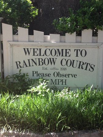 Rainbow Courts: courtyard