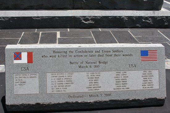 Natural Bridge Battlefield Historic State Park: Names of those killed
