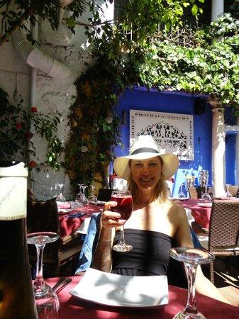 El Patio De Mariscal: On the patio for lunch.