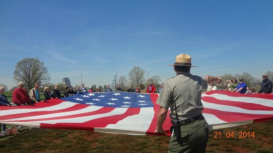 Fort McHenry National Monument : Enormous replica flag