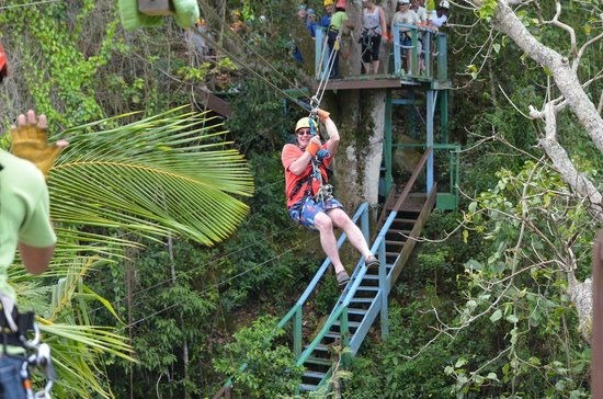 Antigua Rainforest Canopy Tour : zip lining heart stopping screaming fun fun fun
