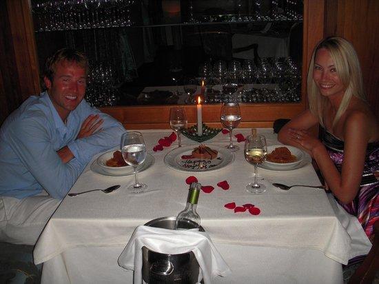 Excellence Playa Mujeres: Honeymoon dinner