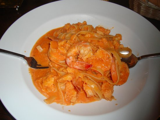 Mister Panino : Pasta with shrimps and lagosta - USD 22
