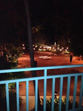 San Juan Marriott Resort & Stellaris Casino : View from the balcony at night - patio