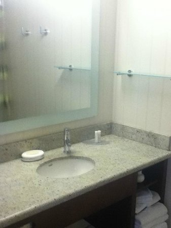 SpringHill Suites Alexandria Old Town/Southwest: Sink in Shower room & TV and doors to toilet closet and shower respectively - Picture ... Pezcame.Com