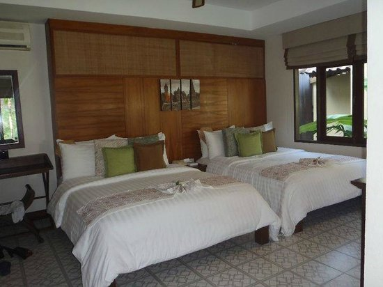 Peace Resort: Inside the Deluxe Sea Breeze room (you can get rooms with 1 king bed)