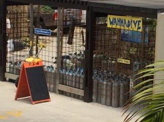 Eden Beach Resort : View of Wanna Dive Air Station