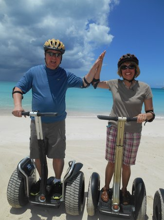 Segway Antigua Tours : Great fun on the Segways!