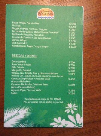 Gamboa Rainforest Resort: Prices at pool