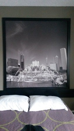 Super 8 Bridgeview/Chicago Area: Nice room and picture