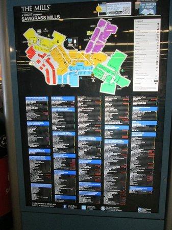 Sawgrass Mills: map