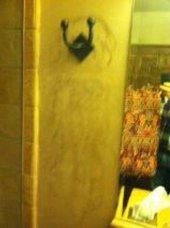 El Monte Sagrado: Nasty Stained Bathroom Wall
