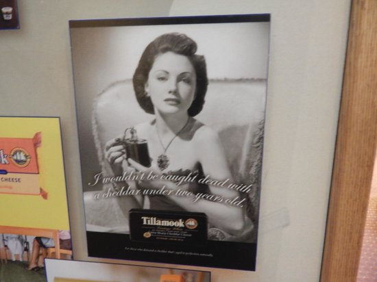 Tillamook Cheese Factory : Old Tillamook Cheese advertisement