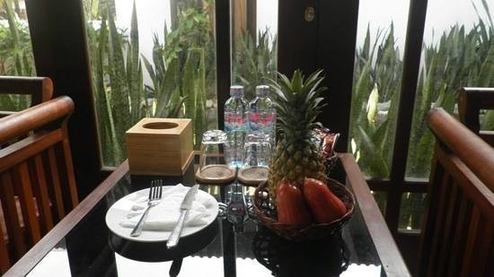Hoi An Riverside Bamboo Resort: Complimentary refreshments...