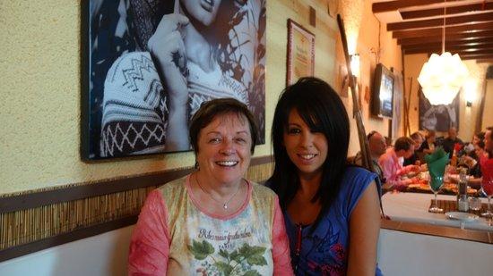 Ciao Bella: Fabiana, in blue, was a warm, welcoming hostess