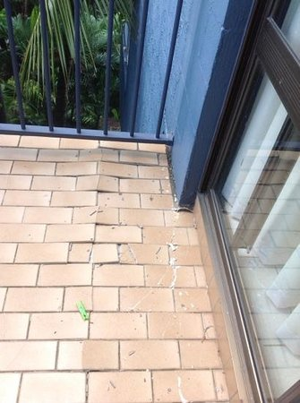 Whitsunday Terraces Resort : broken tiles on balcony