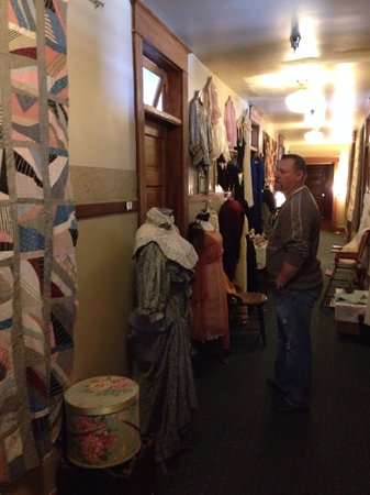 The Historic Occidental Hotel & Saloon and The Virginian Restaurant: The hallway upstairs great vintage clothes