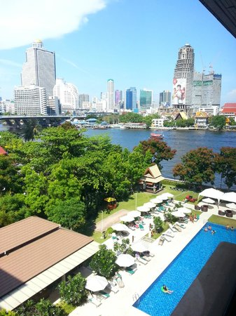 ibis Bangkok Riverside : Partial River View from my room, 7th floor