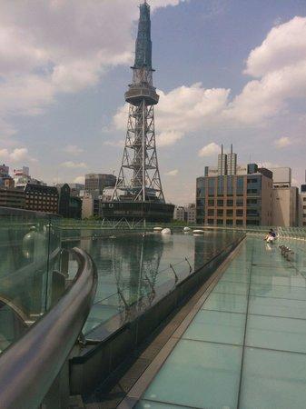 Hisaya Odori Park : Ceiling water feature