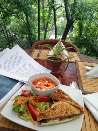 La Puertecita Boutique Hotel: rica comida y la vista de la terraza